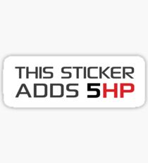 This Sticker/Shirt Adds 5 Horsepower Sticker