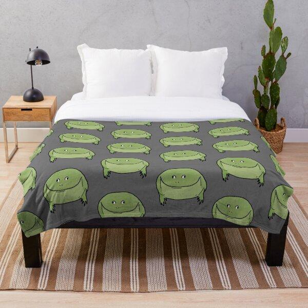 Round Froggo Throw Blanket