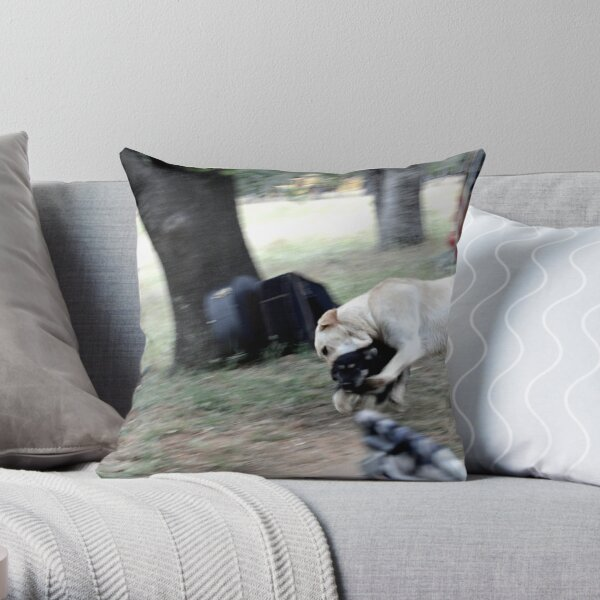 Ranch Puppies Throw Pillow