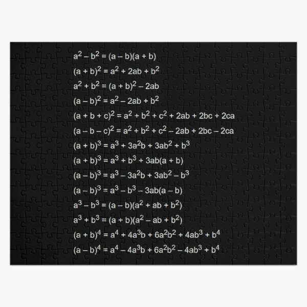 Important Formulas in Algebra Jigsaw Puzzle
