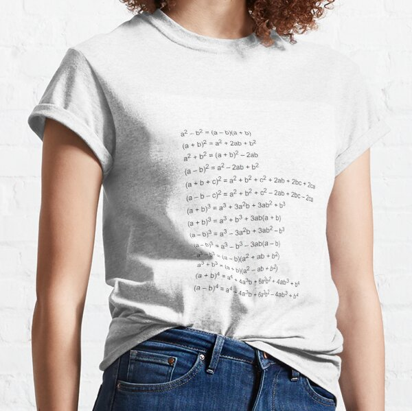 Important Formulas in Algebra Classic T-Shirt
