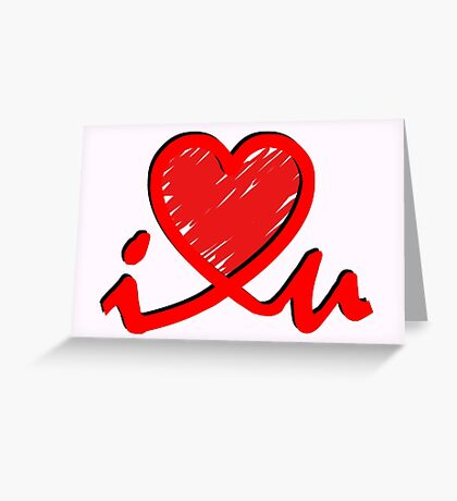 i 'Heart' U - Connected Heart Greeting Card