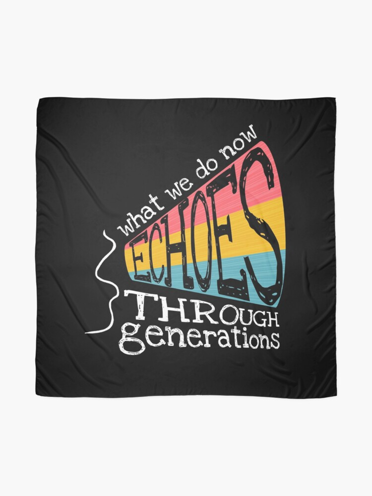 Alternate view of Echoes Through Generations Scarf