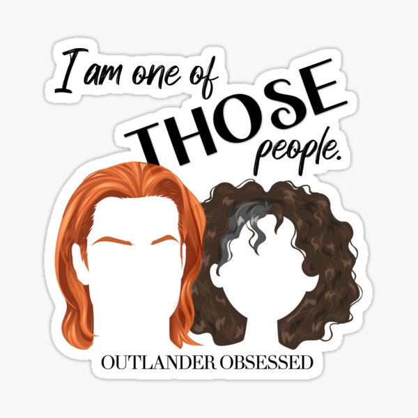 I am one of THOSE People. Jamie and Claire Fraser.  Sticker