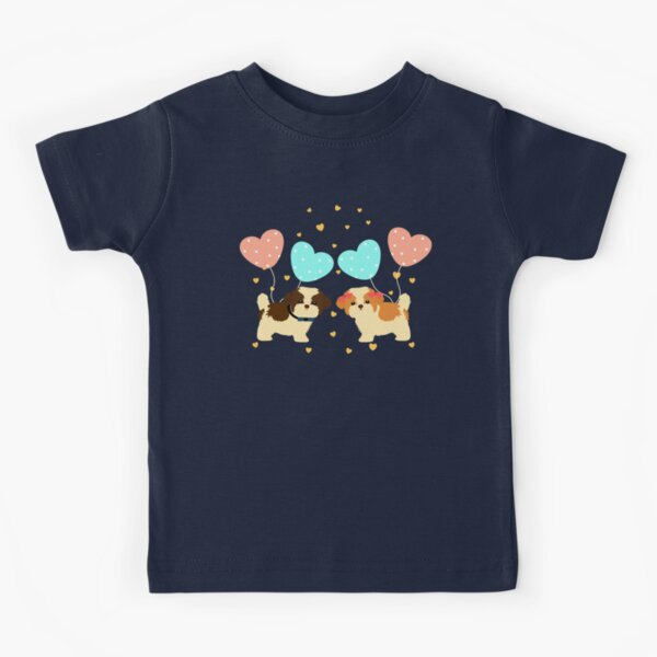 Love Shih Tzu Puppies Kids T-Shirt