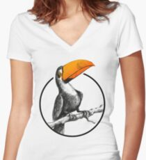 The Brilliant Toucan Women's Fitted V-Neck T-Shirt