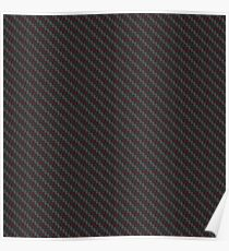 Carbon fibre - red wire reinforcing Poster