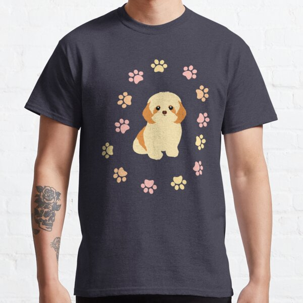 Shih Tzu and Paw Prints Classic T-Shirt