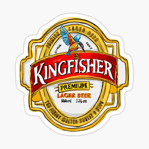 Kingfisher Lager POP Sticker