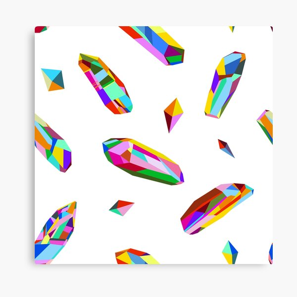 Vivid Minerals on White Canvas Print