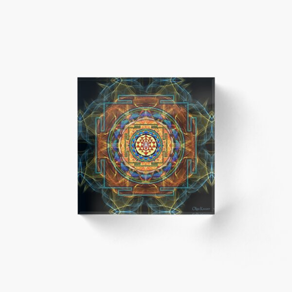 The Sri Yantra - Sacred Geometry Acrylic Block