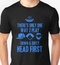 Softball Head First Unisex T-Shirt