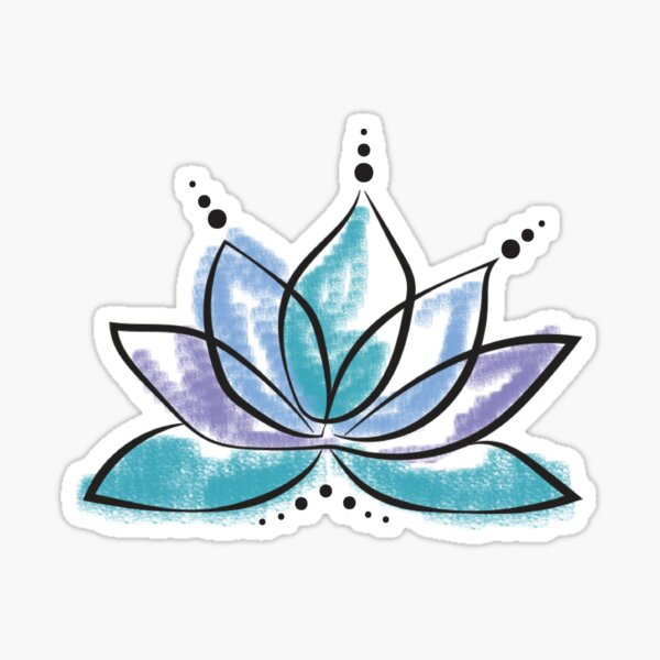 Blue Lotus Sticker