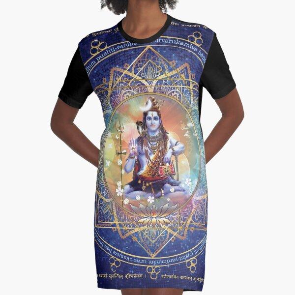 Shiva Mahamrityunjaya -  Health, Peace in Life & Prosperity  Graphic T-Shirt Dress