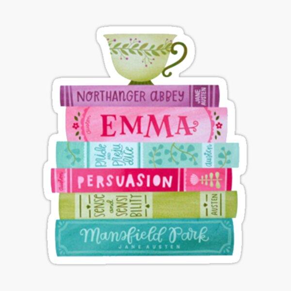 Funny Jane Austen Tea Party Book Club Fans Literary Gifts Sticker