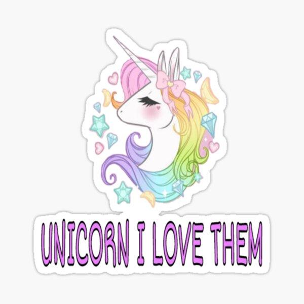 Unicorn I Love Them Sticker