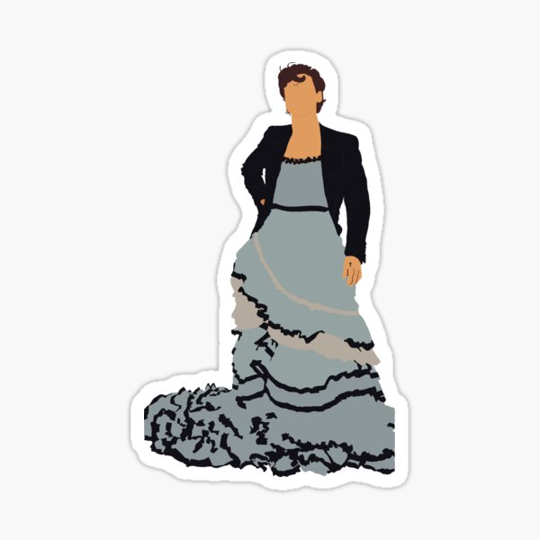 Harry Styles Vogue Dress Sticker