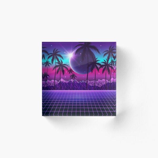 Twilight Retrowave Acrylic Block