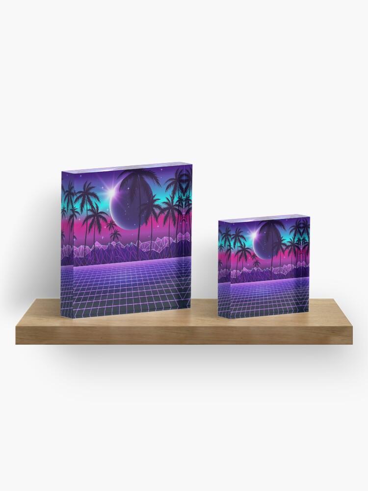 Alternate view of Twilight Retrowave Acrylic Block