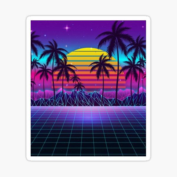 Radiant Sunset Synthwave Sticker