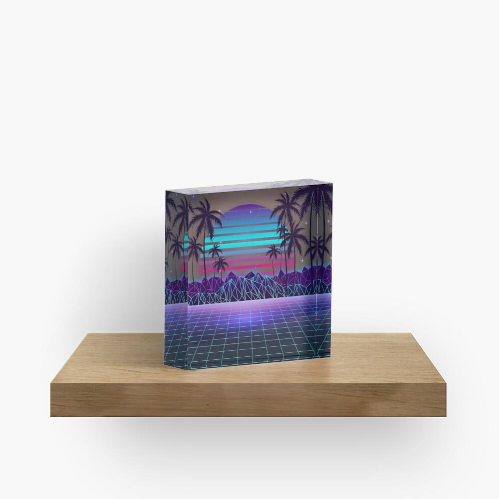 Fascinating Dusk Retrowave Acrylic Block