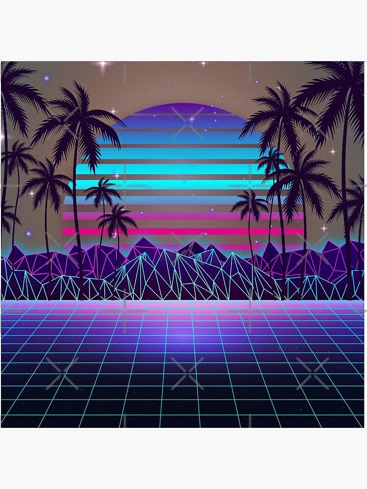 Fascinating Dusk Retrowave by MaiZephyr