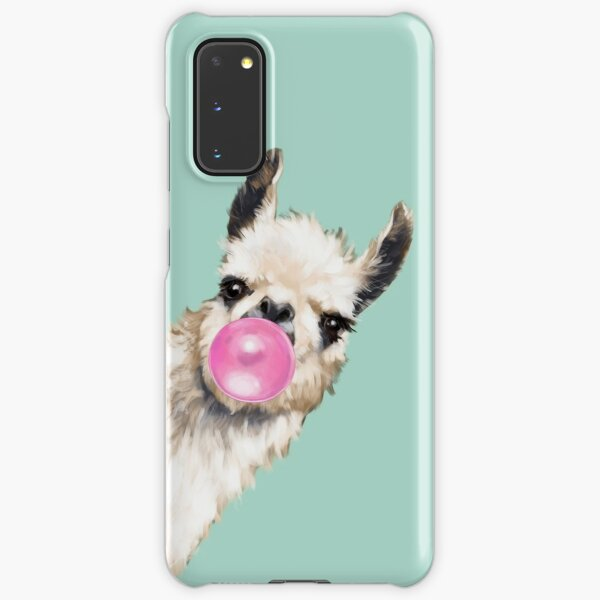 Bubble Gum Sneaky Llama in Green Samsung Galaxy Snap Case