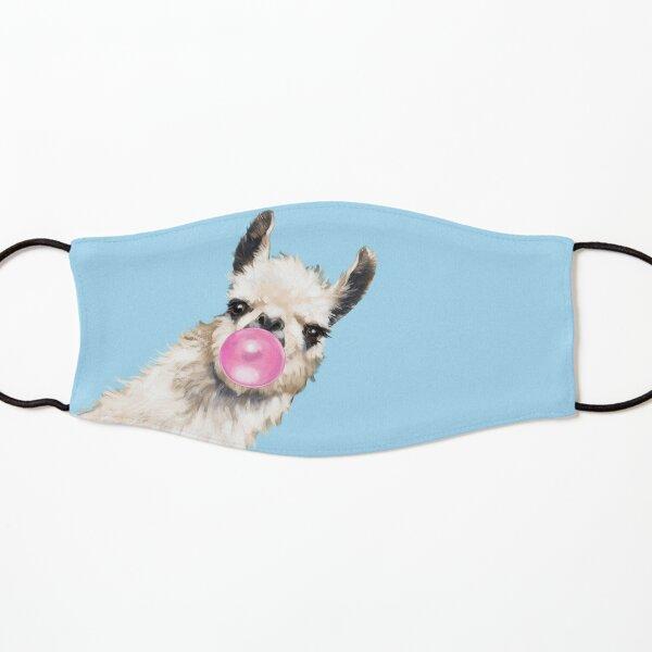 Bubble Gum Sneaky Llama in Blue Kids Mask