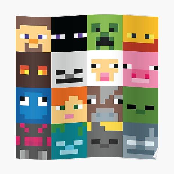 Cara de Minecraft Póster