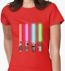 Star Wars - All Light Savers  Womens Fitted T-Shirt