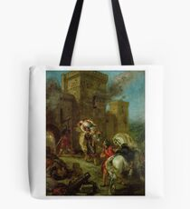 EUGENE DELACROIX,  REBECCA KIDNAPPED BY THE TEMPLAR, SIR BRIAN DE BOIS-GUILBERT Tote Bag