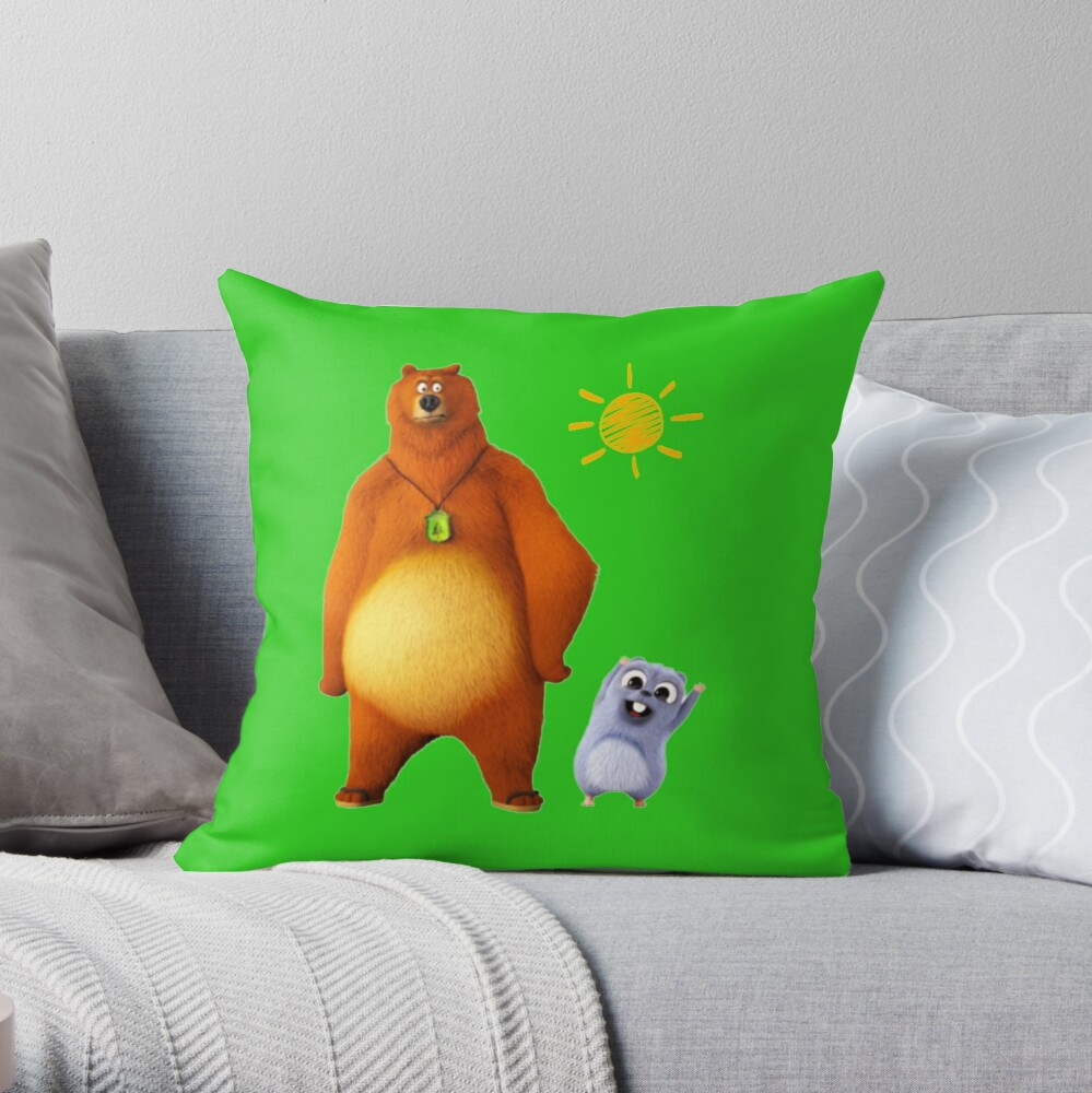 Grizzy and lemmings Throw Pillow