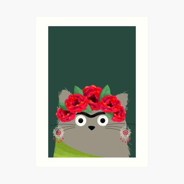 Cat Frida Art Print
