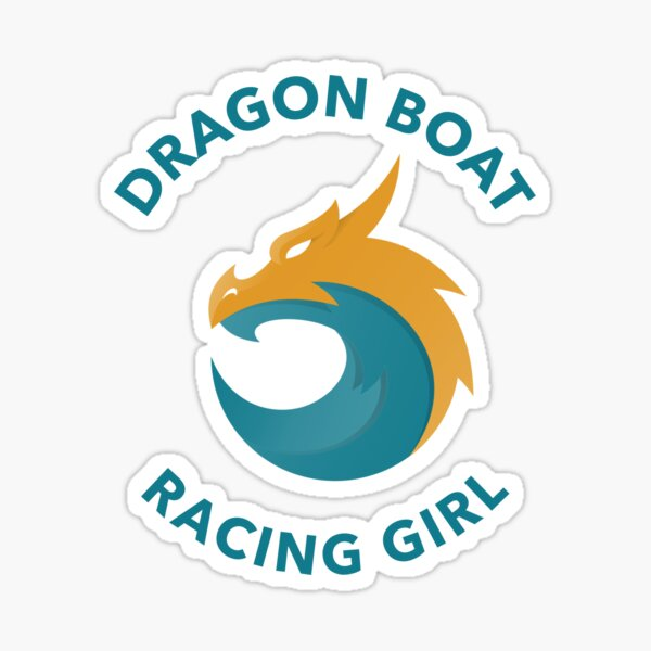Dragon Boat Racing Girl Sticker