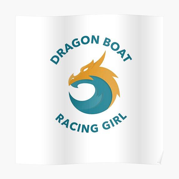 Dragon Boat Racing Girl Poster