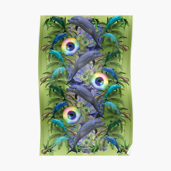tropical dolphin delight Poster