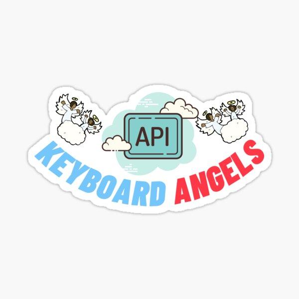 keyboard angels Sticker