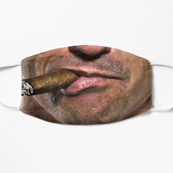 businessman cigar smoking face  Flat Mask