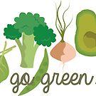 «¡Ir verde! - Vegano / Vegetariano» de SarGraphics