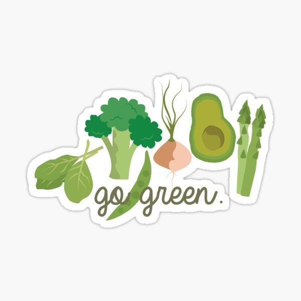 Go Green! - Vegan/Vegetarian  Sticker