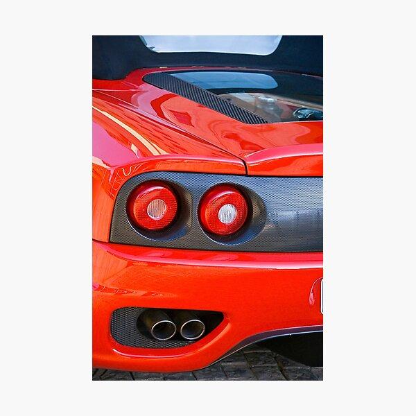Ferrari 360 F1 Spider Tail Lights & Exhaust Photographic Print