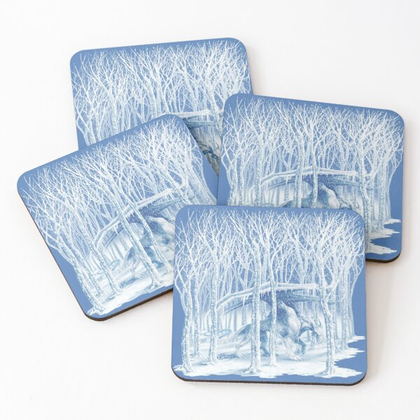 Dragon of Ice and Winter Coasters (Set of 4)