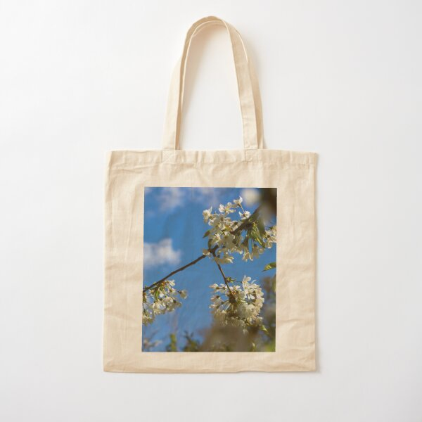 White Blossom in the Spring Cotton Tote Bag