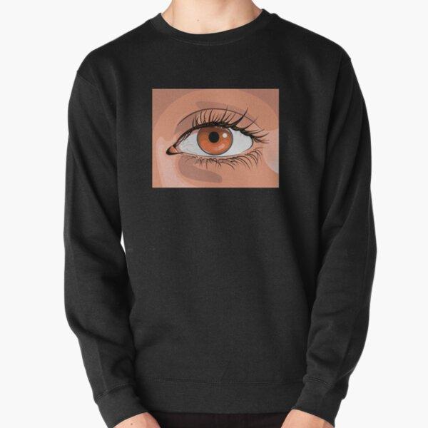 Drawn eye Pullover Sweatshirt