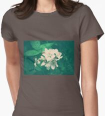 Overlit Flowers Womens Fitted T-Shirt