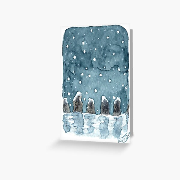 Snowy stones Greeting Card