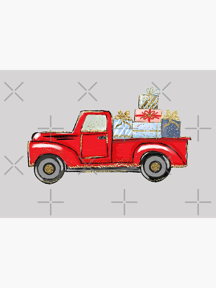 christmas red truck with awards,merry christmas by whuaud