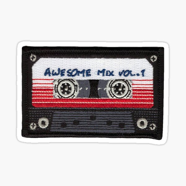 Mix Tape Cassette Patch Sticker