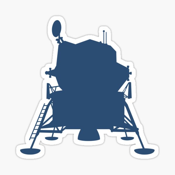 Apollo 11 Lunar Module ▶ Glossy Sticker