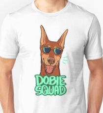 DOBIE SQUAD (red + cropped) Unisex T-Shirt